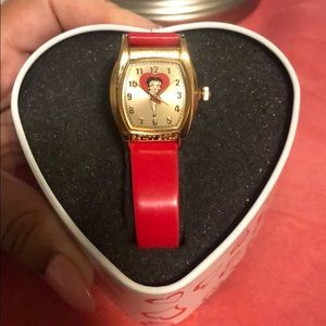 Betty Boop gold plated watch